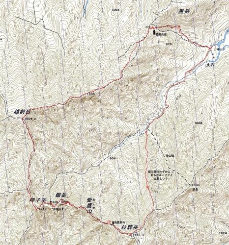 180701 愛鷹鋸岳軌跡