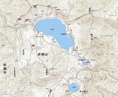 180717 赤城山軌跡