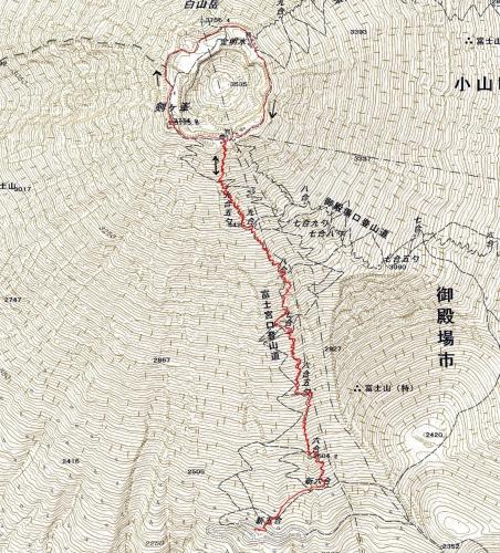 180803 富士山軌跡