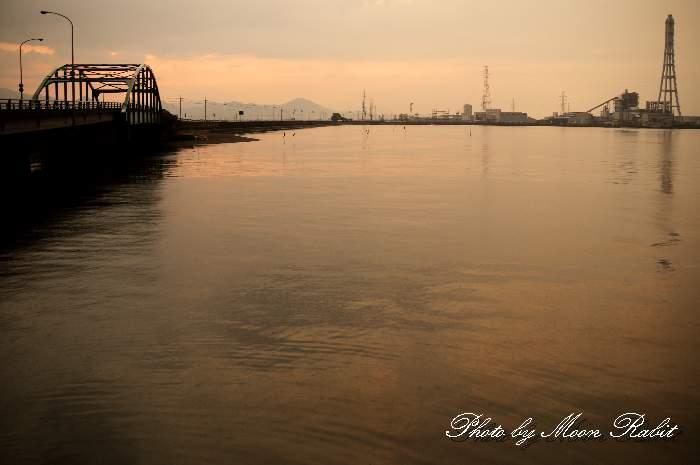 広江橋の夕景色 愛媛県西条市広江