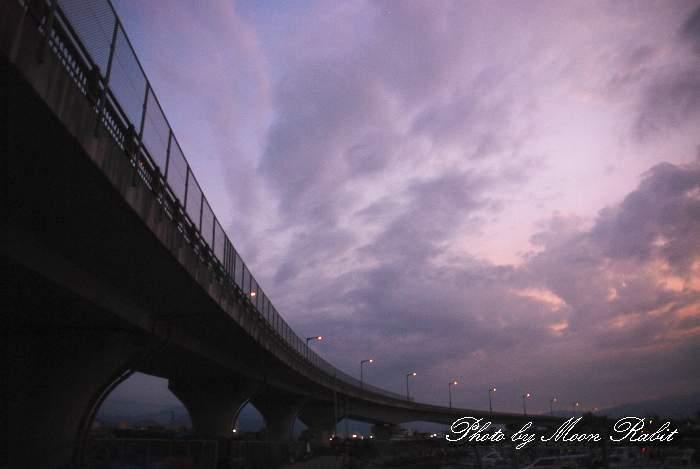 ひうち大橋の夕景色