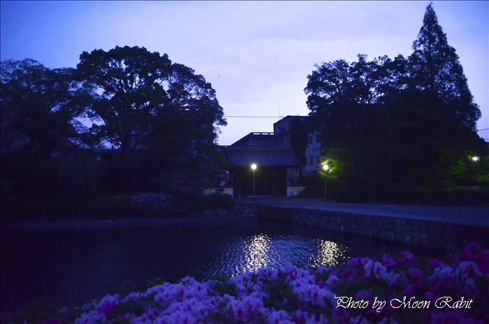 西条高等学校の夕景 愛媛県西条市明屋敷