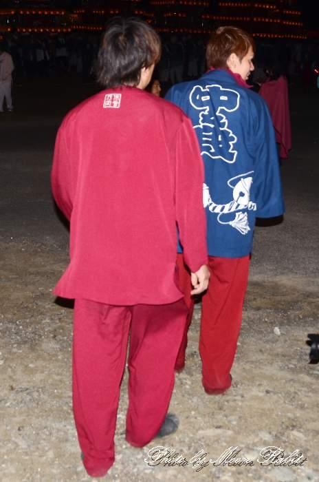 中の段だんじり(屋台) 祭り装束