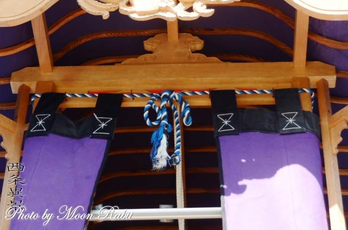 先代北山屋台(だんじり) 蟇股 西条祭り 石岡神社祭礼 愛媛県西条市