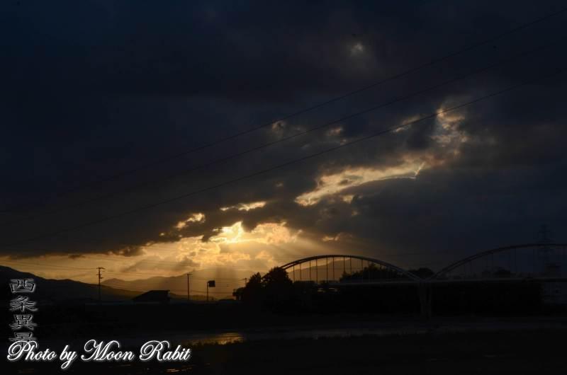 加茂川水管橋と雲 愛媛県西条市