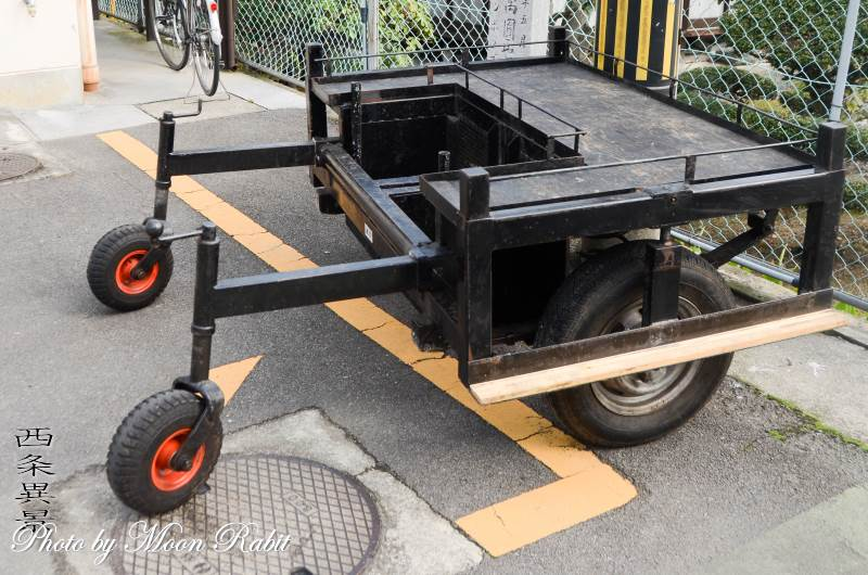 楢之木屋台(だんじり) 台車
