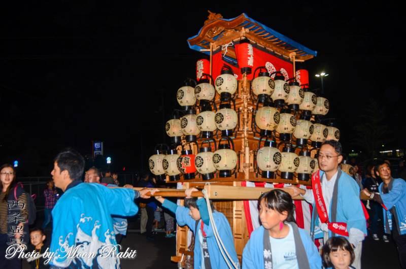 西条地区前夜祭 新堀上組子ども屋台(だんじり)
