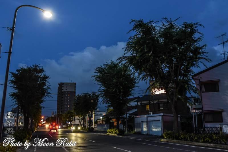 古川玉津橋線の夕景色