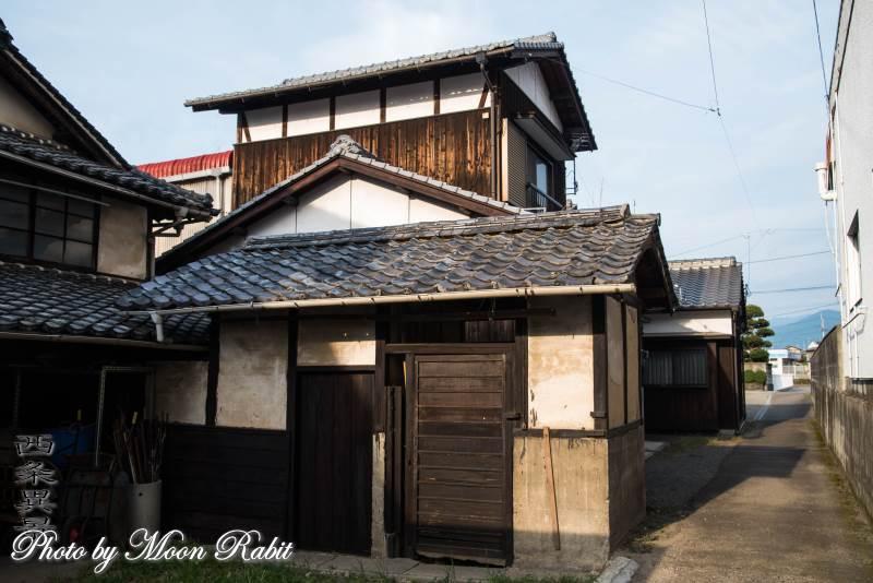 小松町新屋敷の家並 JR予讃線近く 愛媛県西条市