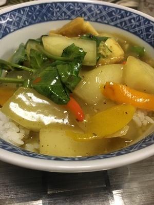 冬瓜カレー丼