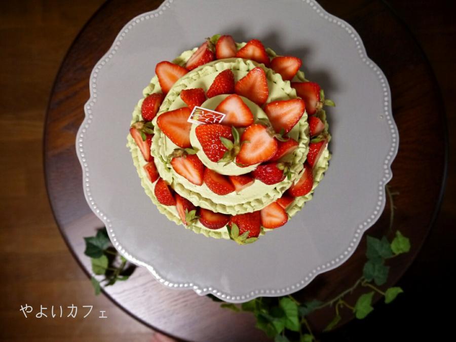 母の日にピッタリ!「苺と抹茶のデコレーションケーキ」の作り方☆