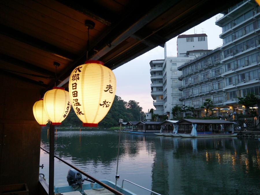 大分県☆日田の宿「よろづや」屋形船でお食事&鵜飼い見物!