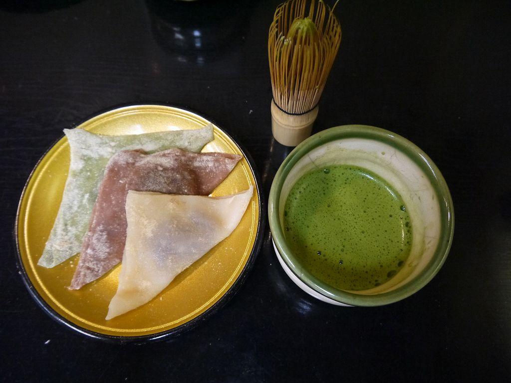 京都で!生地から作る八つ橋とおうす体験「八つ橋庵かけはし(京都市右京区)」
