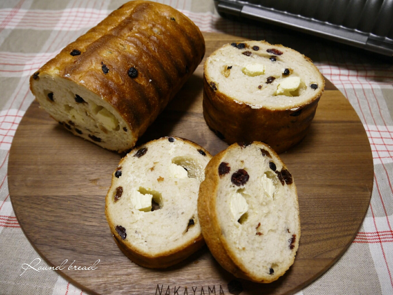 クセになる!「ラム酒が香るベリーとクリームチーズのラウンドパン」の作り方☆