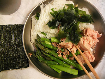 blog CP1 Dinner, Lancaster, Tuna & Asparagus, CA_DSCN8327-3.15.18