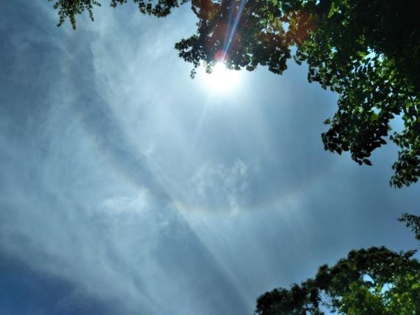 現れた日輪の虹