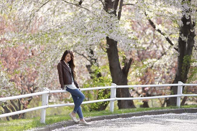 未来:桜バック9