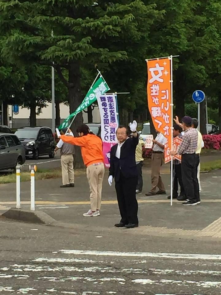 【県知事選出馬最後のスタンディング】-1