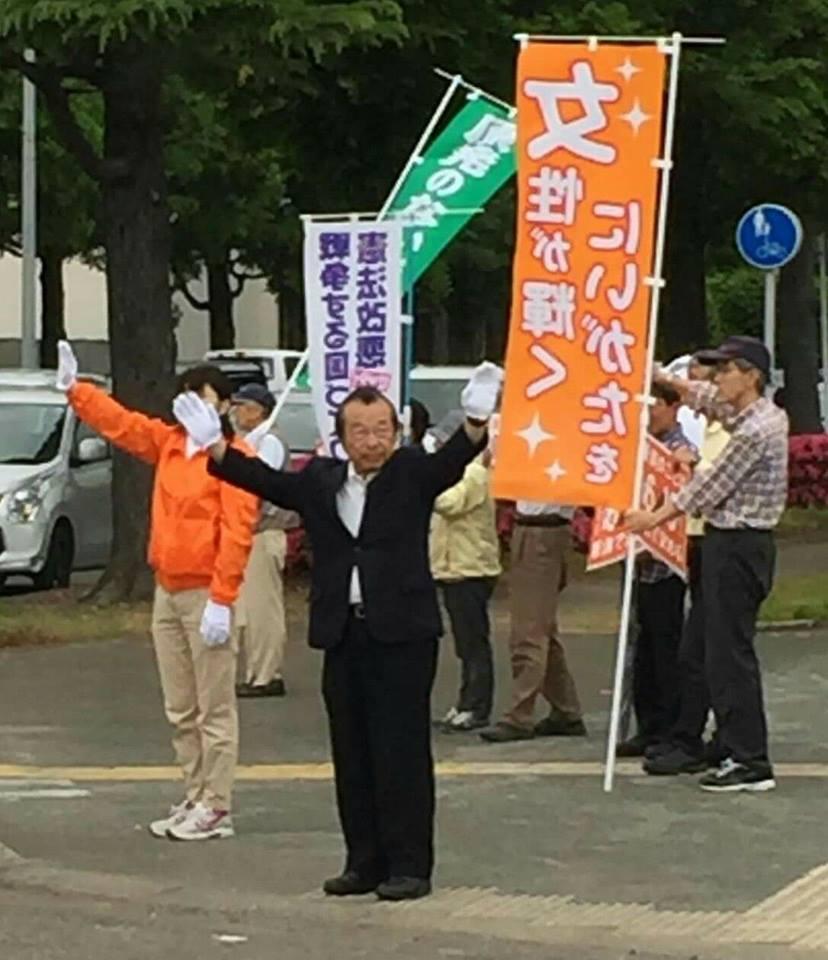 【県知事選出馬最後のスタンディング】-2
