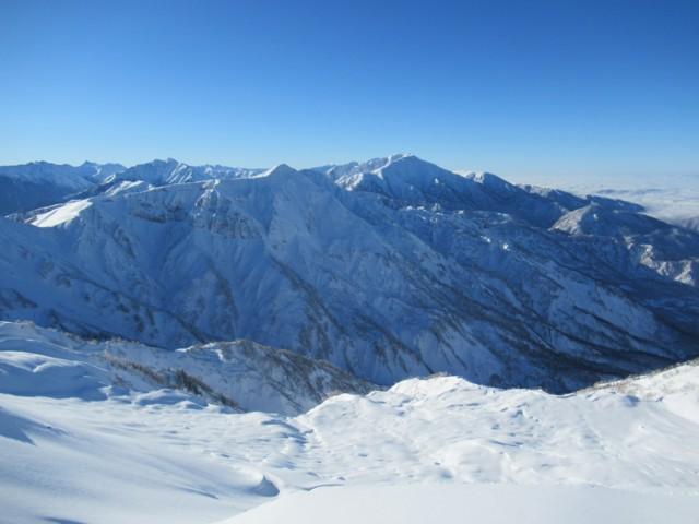 11月27日 稜線から南側