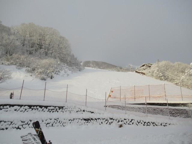 12月17日 下まで滑れるほどの積雪