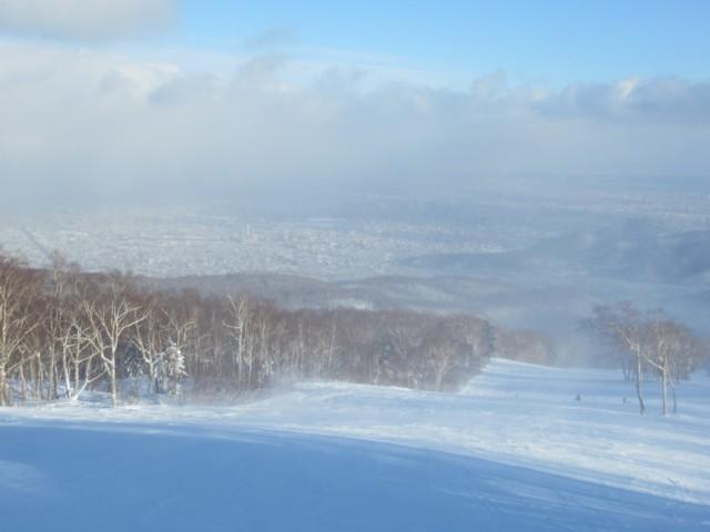 12月28日 札幌の街が見えるゲレンデ