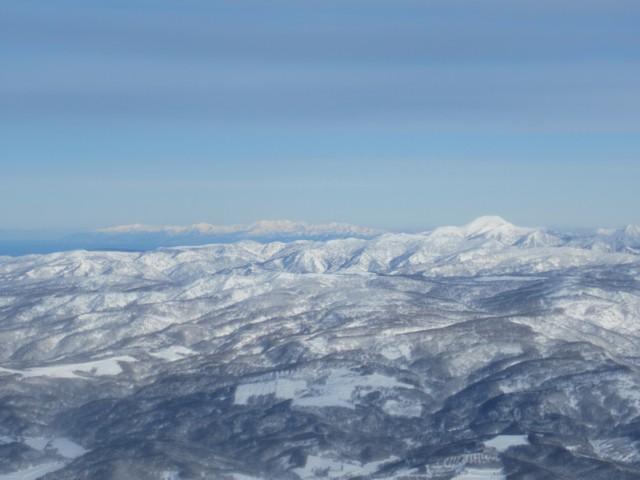 12月31日 石狩湾の先には増毛の山々