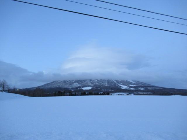 1月1日 羊蹄も雲の中