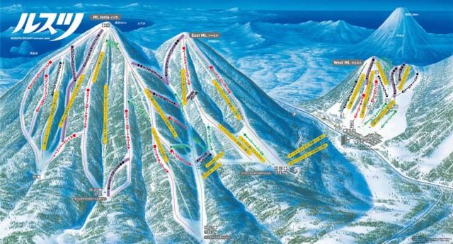 1月2日 ルスツのコースマップ