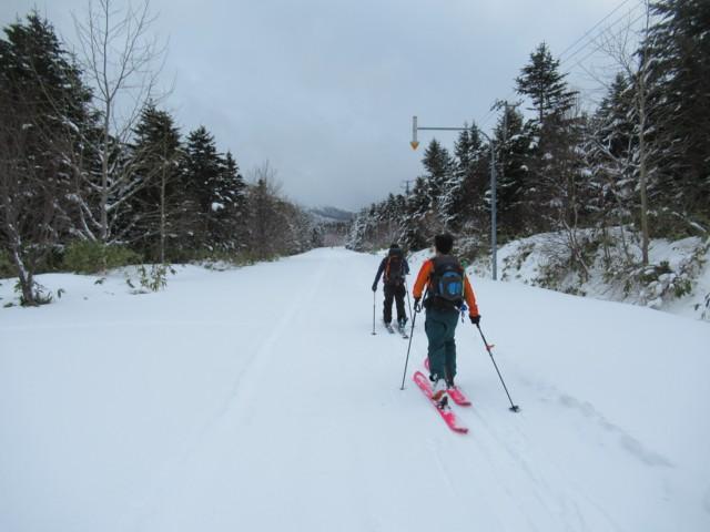 1月4日 利尻北麓野営場まで2.8km