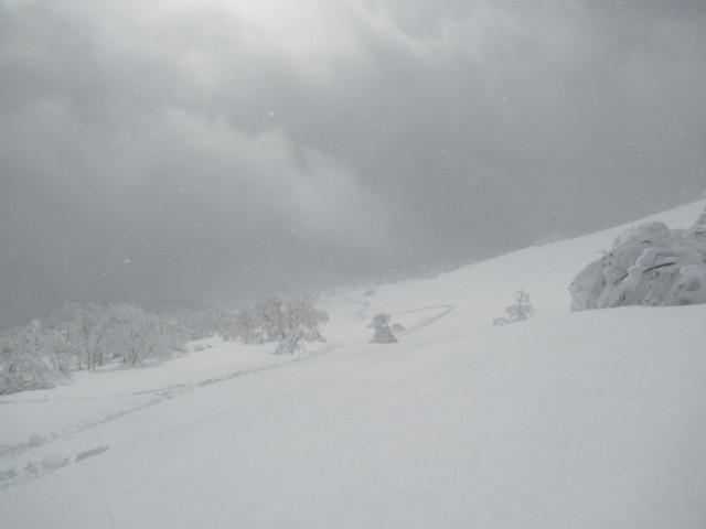 1月7日 登り返しも1300mまで