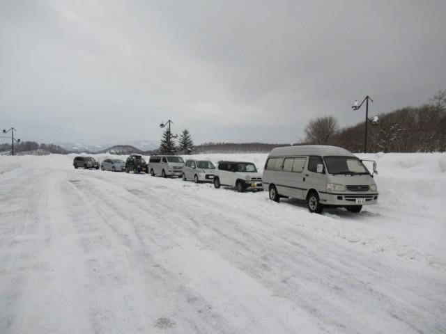 1月8日 マッキモの駐車スペース