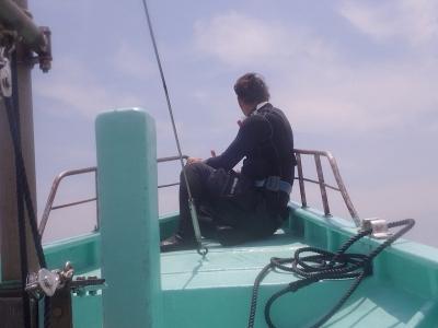 ボートにノッてます