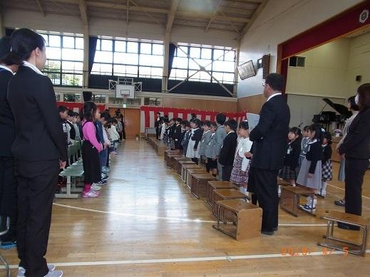 H30年森上小学校入学式
